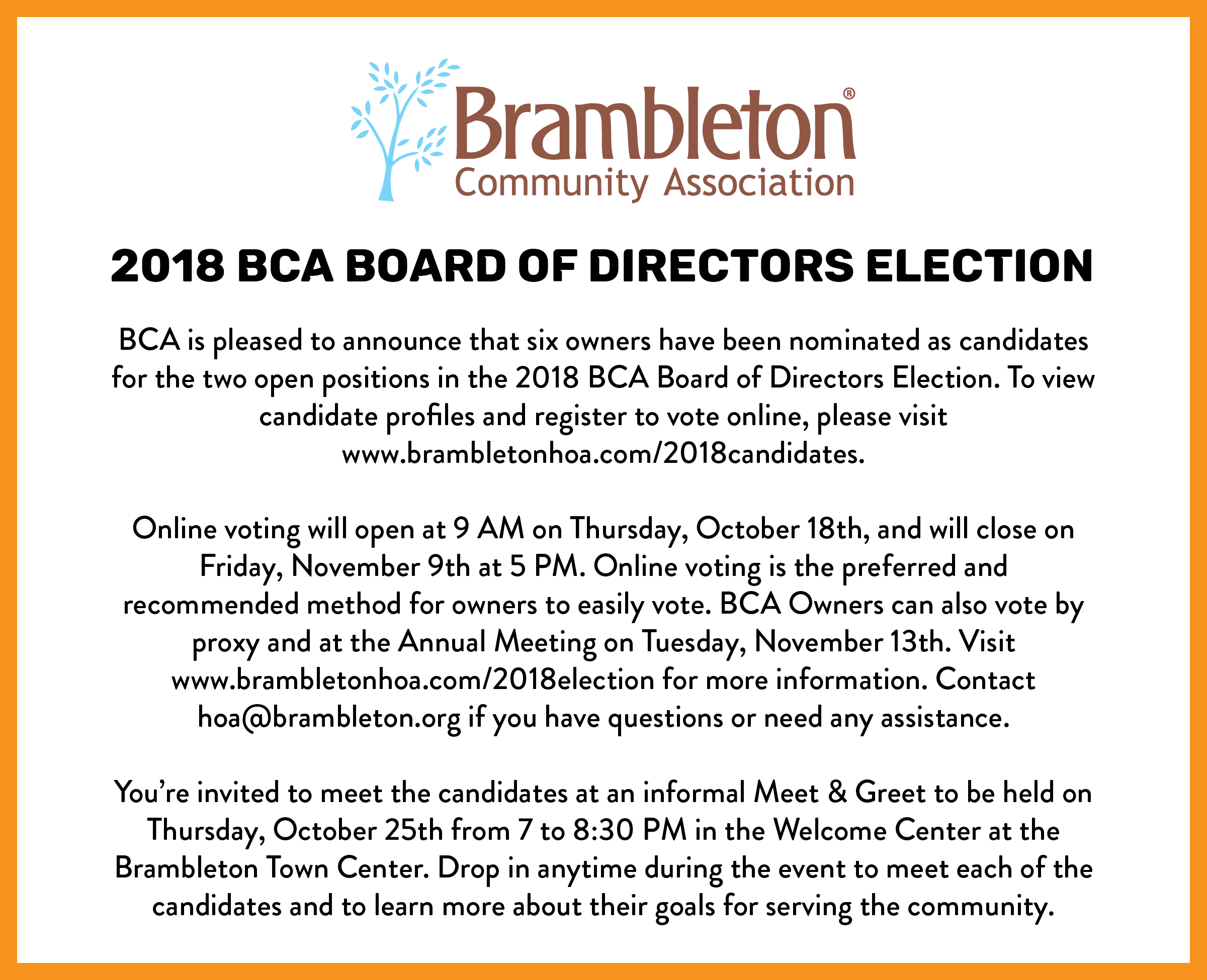 Board Election 2018